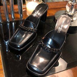VIA SPIGA Shoes Slid in Block Heels 8.5M NEW $245